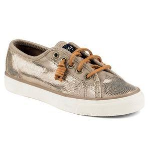 Sperry Seacoast Metallic Embossed Sneaker